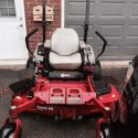 EXMARK 60 inch riding lawn mower with ultra vac attachment
