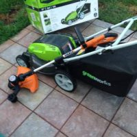 Brand new electric lawn mower and edger used ONCE  ONLY